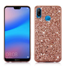 Luxury Bling Glitter Case For Huawei Mate 20 Lite Nova 3i P20 Pro Back Phone Cover Soft Silicon TPU Metal Crystal Sequins Capa(China)