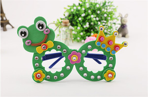 Happyxuan 8 تصاميم/الكثير الاطفال DIY الفن عدة أشغال يدوية مجموعة إيفا رغوة ملصقات رياض الأطفال الإبداعية اليدوية لعبة تعليمية الفتيات هدية
