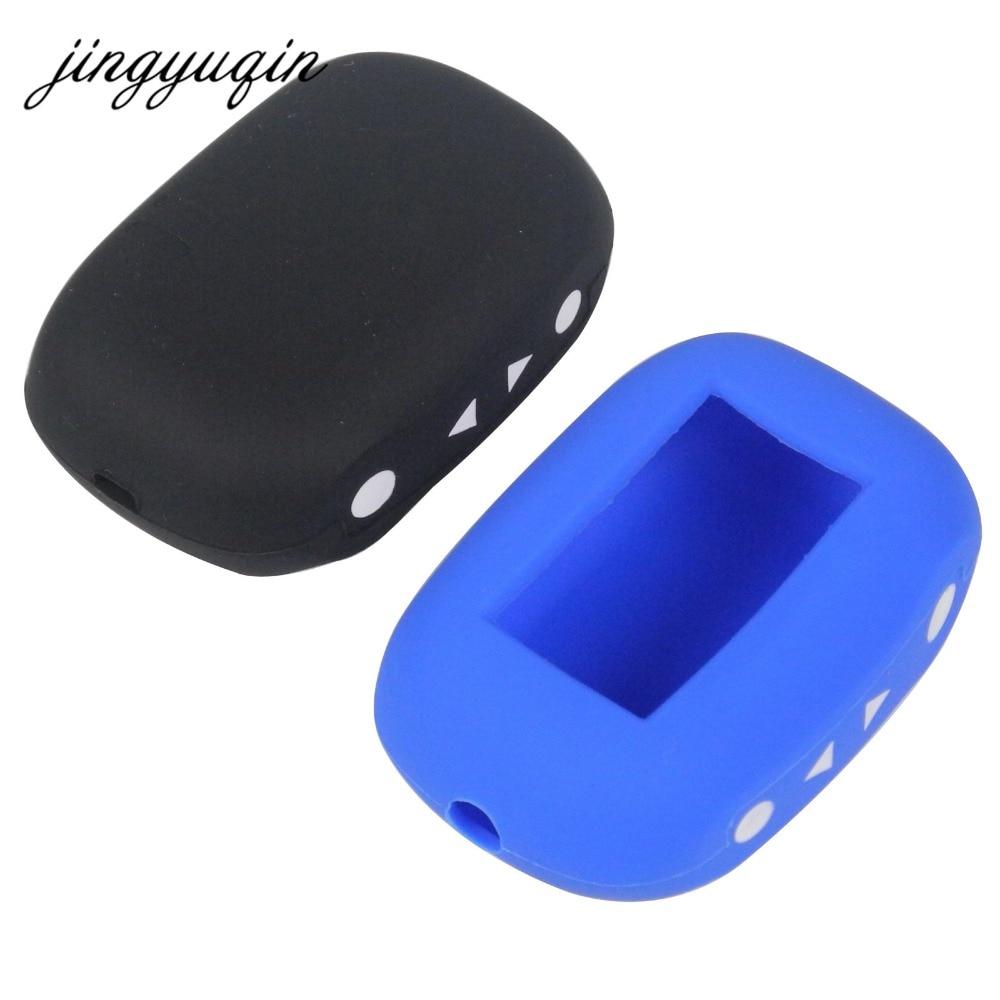 jingyuqin Russian Version B92 Silicone Case Cover for Starline B93/B94/B62/B64 LCD Remote Two Way Car Alarm System starline b64 2 can slave