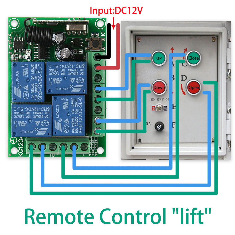 KTNNKG DC 12V 10A 4CH Wireless Remote Switch Relay Module Smart Home Automation Multi fonction Motor Controller 433MHz Receiver in Remote Controls from Consumer Electronics