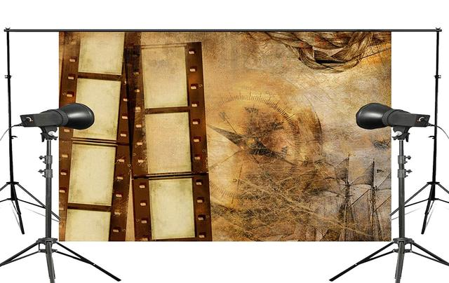 Exquisite Old Wallpaper Wall Painting with Roll Studio Props Photography Background Retro Photo Backdrop 5x7ft