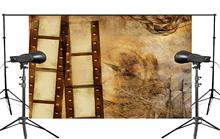 Exquisito papel pintado antiguo pintura de pared con rollo de accesorios de estudio fotografía Fondo Retro foto telón de fondo 5x7ft