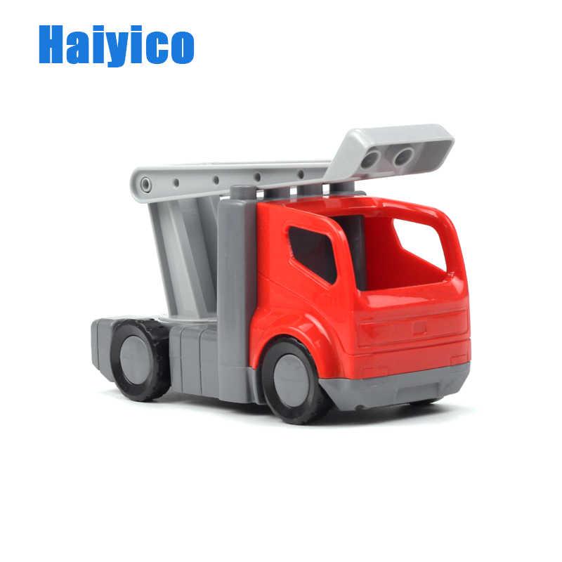 車両大型ビルディングブロックトラックアクセサリー互換 duplos 車モデル救急車ブルドーザー教育のおもちゃギフト