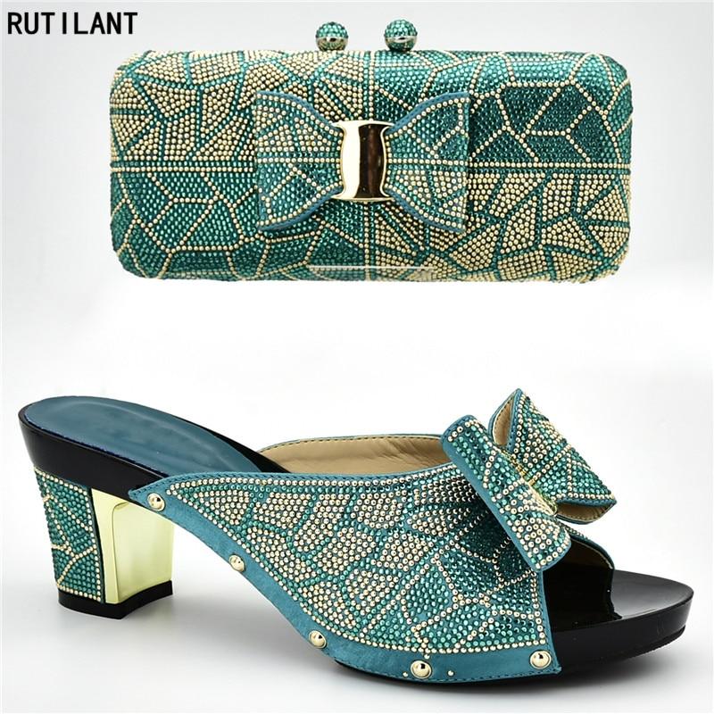 A Juego Diamantes Bolsos Diseño Y oro Negro púrpura Tacones Último De Imitación azul Bolso Con Decorado amarillo Zapatos Africanos plata EF7q1wSz1