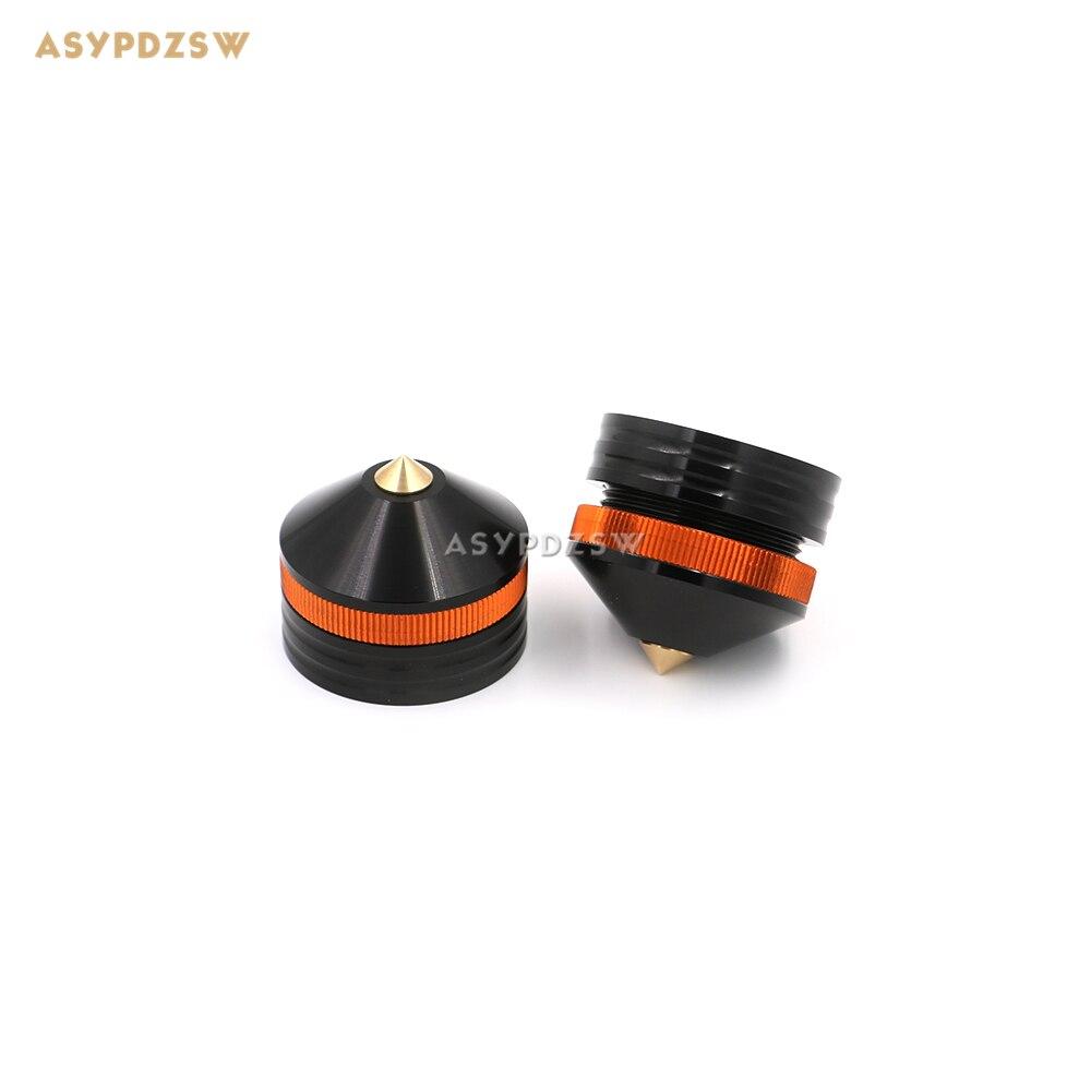 цена на 4PCS 39*33 Aluminum Black sound machine feet Power amp spikes Speaker shock pads damping spikes