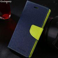 1pcs Lot Korean Original Mercury Double Color Leather Flip Case Cover For Samsung Galaxy S4 Mini