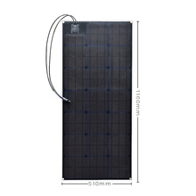 Solarparts 1x 100W fexible solar panel 12V high efficiency cell yacht boat marine RV module for battery charge cheap