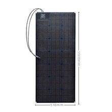Panel Solar Flexible ETFE al aire libre de 20,5 V 100 W célula Solar monocristalina para coche/yate/barco de vapor 12 V batería Solar de 100 vatios