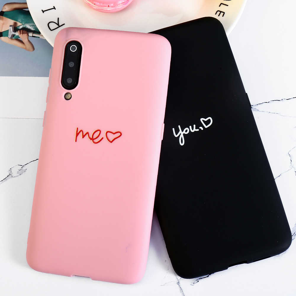 Couple Love Heart Phone Case For OPPO F11 Pro F1S F1 F3 Plus F5 F7 F9 A1 A3S A5 A7 A7X A37 A57 A71 A73 A83 k1 Reno Cases Cover
