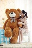stuffed animal 120cm tie teddy bear plush toy brown teddy bear doll gift t6095