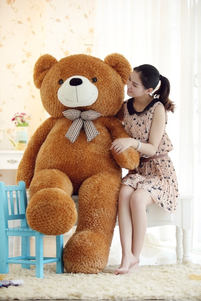stuffed animal 120cm tie teddy bear plush toy brown teddy bear doll gift t6095 stuffed animal 120cm simulation giraffe plush toy doll high quality gift present w1161