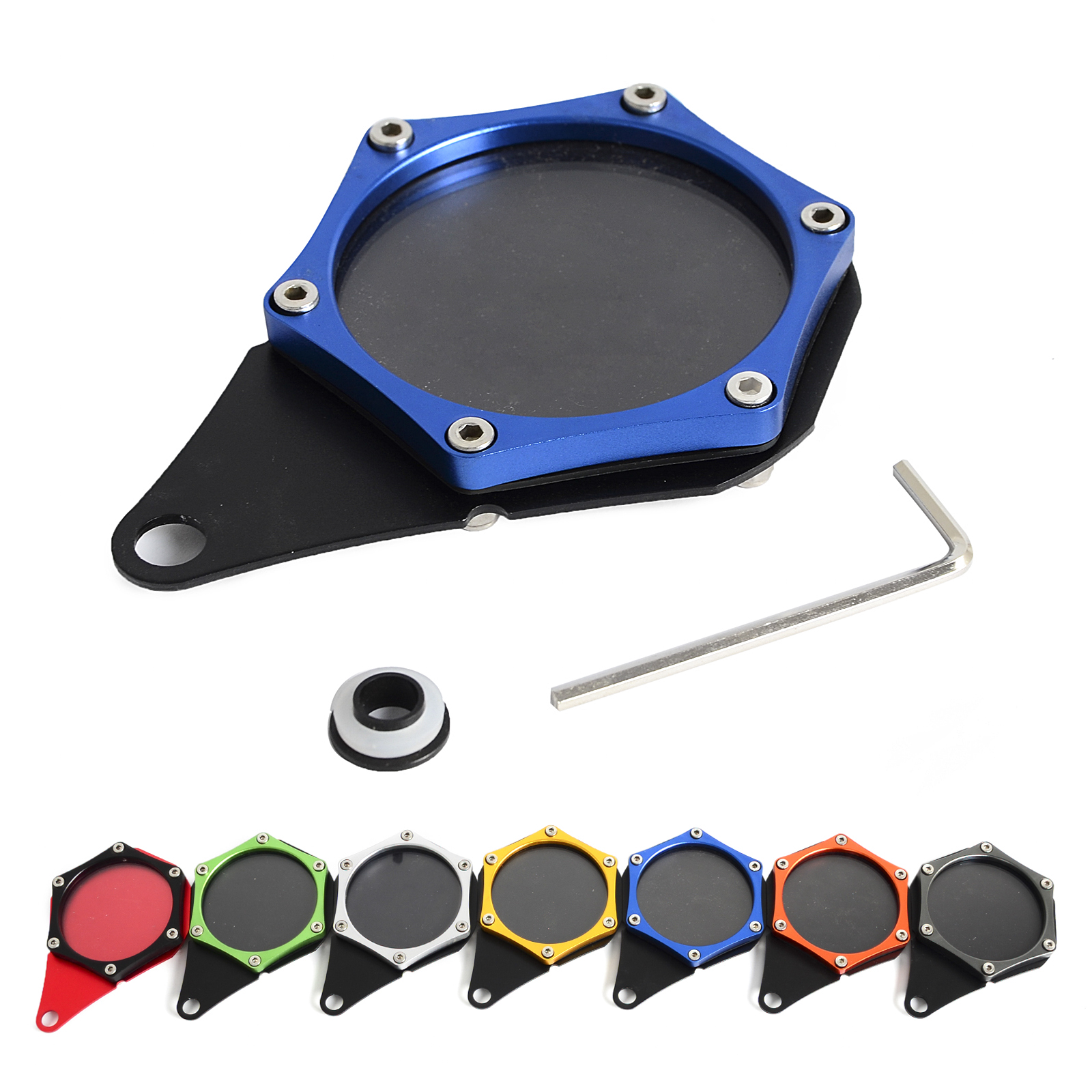 Hexagonal Tax Disc Aluminum Waterproof Scooters Tax Disc Plate Bikes Mopeds Motorcycle Motorbike Tax Disc Plate Holder
