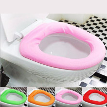 1PC Bathroom Toilet Seat case Warmer Carpet Toilet Seat Cover Soft Comfortable Baby Potty Seat Overcoat Toilet Washable Colorful(China)