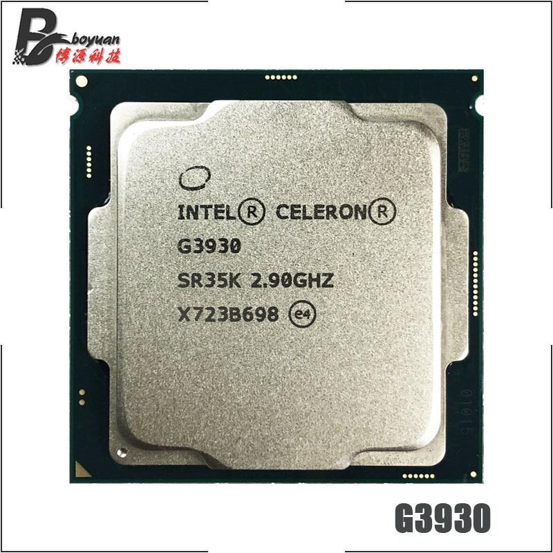 Двухъядерный процессор Intel Celeron G3930, 2,9 ГГц, двухпоточный процессор, 2 Мб, 51 Вт, LGA 1151