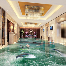 beibehang Custom flooring 3d large beach waves living room shopping mall entertainment 3d floor tiles painting papel de parede beibehang large custom high definition high imitation marble water knife parquet 3d floor tiles decorative painting