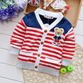 2016 Autumn Boys Girls Long Sleeve Coat Infants Cartoon Stripe Sport Outwear Toddlers Cotton Outdoor Sweater Little Kids Clothes