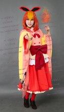 Pocket Monster Pokemon Eevee Flareon Pyroli Flamara Cosplay del traje del Anime de encargo cualquier tamaño
