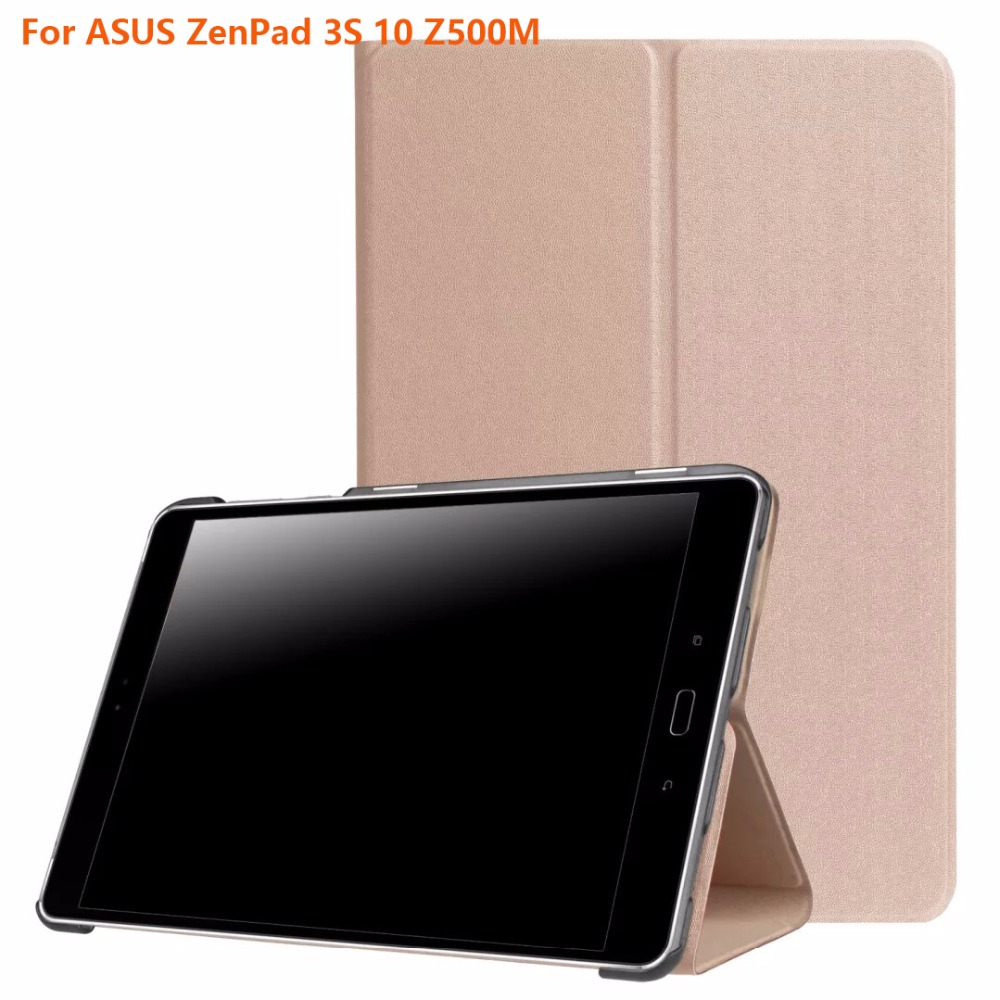 все цены на  PU Leather Stand Case For Asus ZenPad 3S 10 Z500M 9.7 inch MediaPad Tablet Protective Smart shell skin +screen film+pen  онлайн