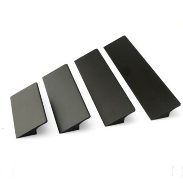 64 96 128 160 192 224mm modern minimalist fashion for Matte black kitchen doors