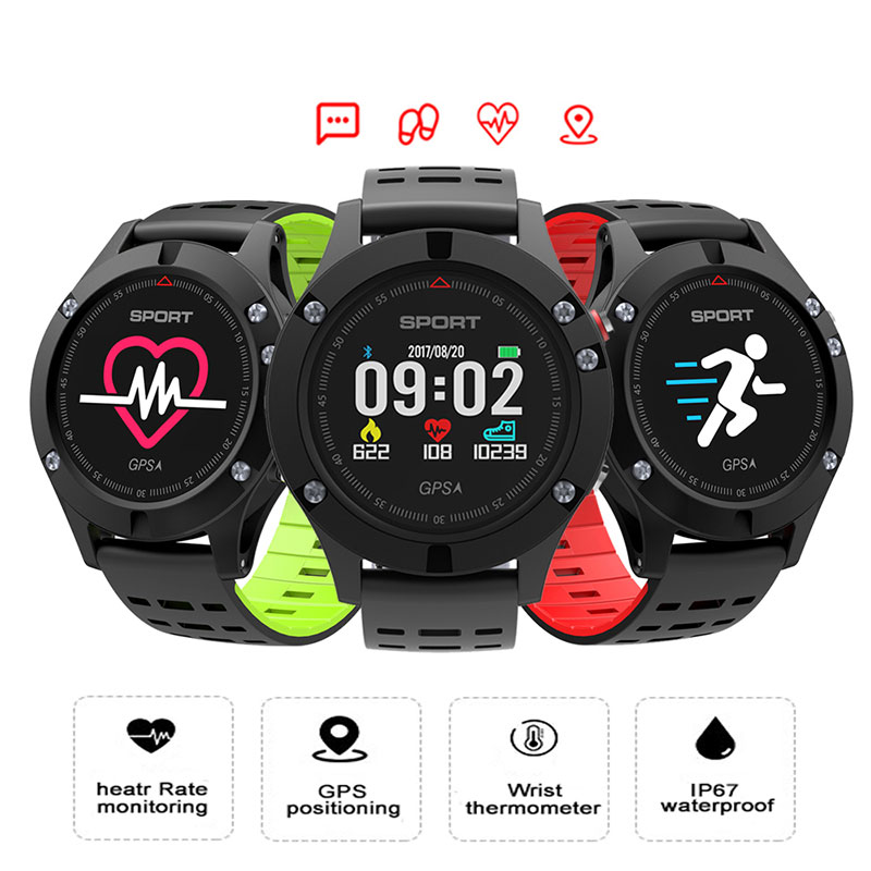 <font><b>No.1</b></font> <font><b>F5</b></font> GPS <font><b>Smart</b></font> <font><b>Watch</b></font> Altimeter Barometer Thermometer Bluetooth 4.2 Smartwatch Wearable devices for iOS Android Phone image