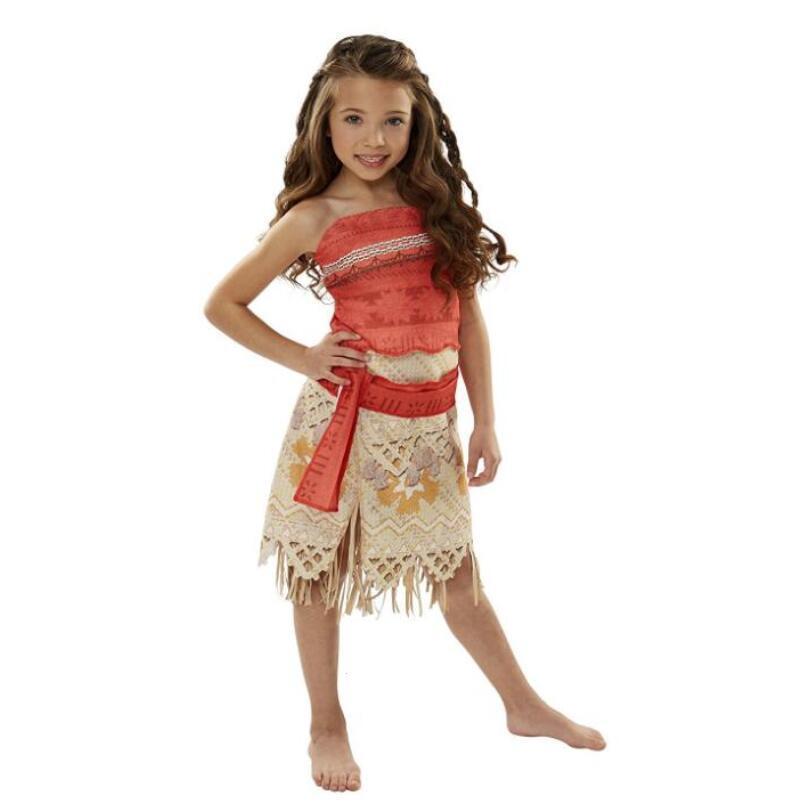 2018 Summer Moana Dress for Girls Adventure Outfit girls Moana Princess Dresses Kids Party Cosplay Costumes Children Clothing W3 summer 2017 new girl dress baby princess dresses flower girls dresses for party and wedding kids children clothing 4 6 8 10 year