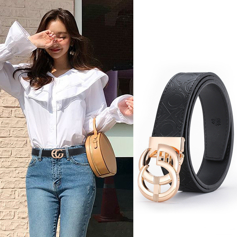 Printing Leather Belts G Designer Genuine Leather Belts for Men Women Fashion Black Belts