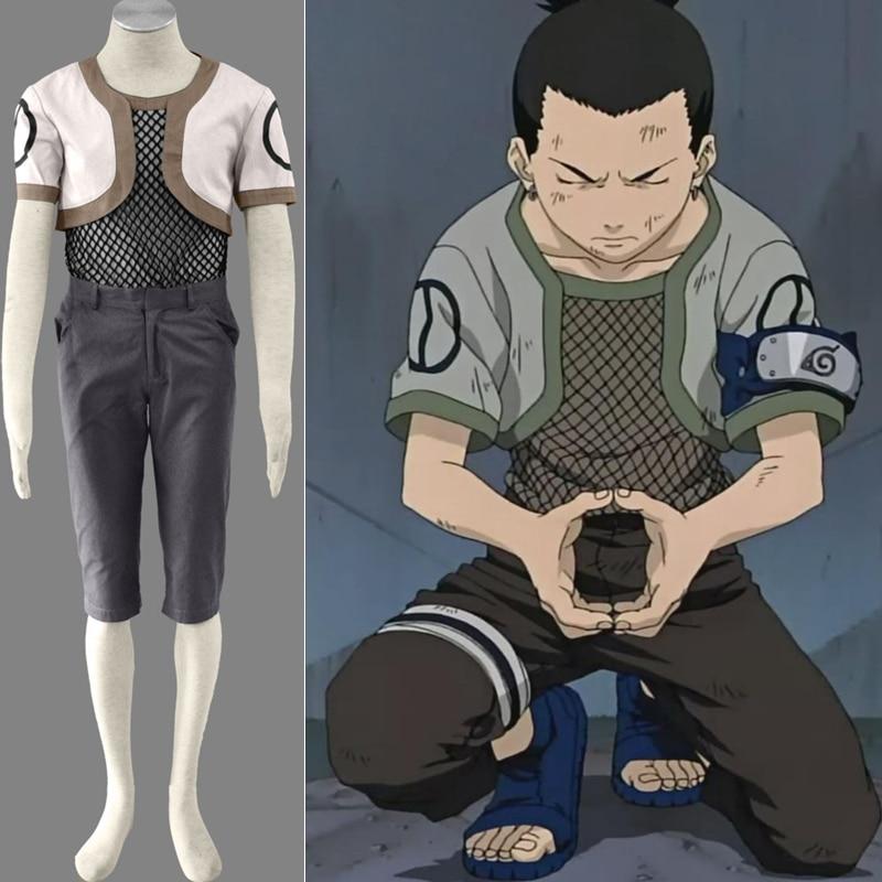 Cartoon Character Nara Shikamaru Cosplay Costume V1 Naruto Ninja Cosplay Costumes