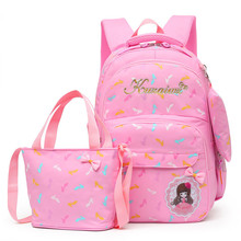 3pcs/Set Children School Bags Teenagers Girls Sweet Rucksack school Backpacks Mochila kids travel backpack Cute shoulder bag new 2017 fashion kids backpacks girls school bags for teenagers cute pug animals dog poodle print school rucksack kids book bag