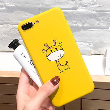 Cartoon Phone Case 7 Plus Funny Animal Cute Yellow Back Cover High quality