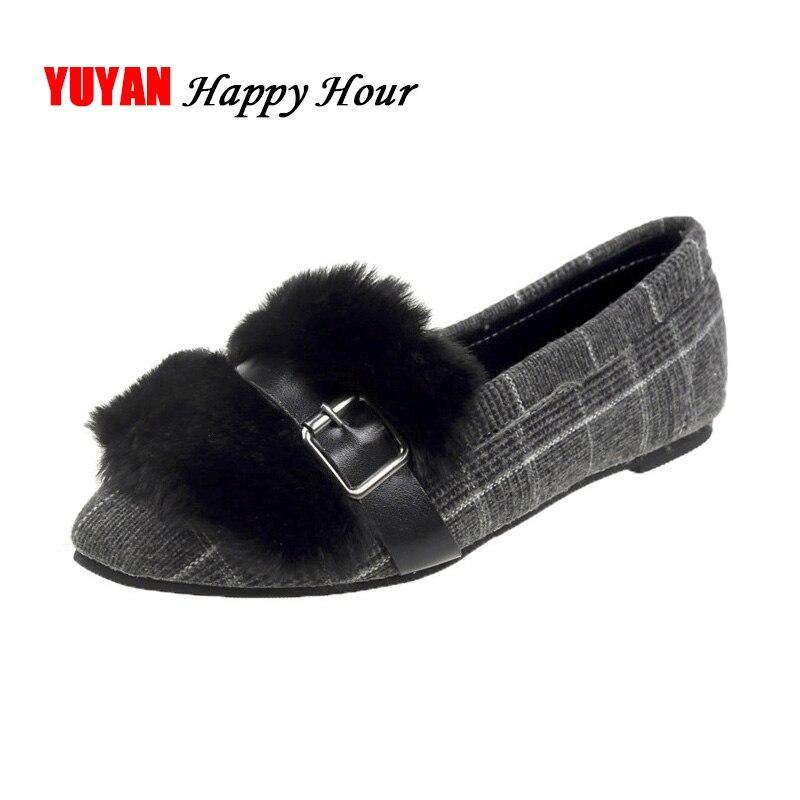 wwqXnP4RT Punta Las Negro Marca Mujeres Zapatos caqui En De Invierno Fur Señoras Del Cómodo Yx330 Suave Pie Mocasines Dedo Pisos Elegantes xqO7wpIR