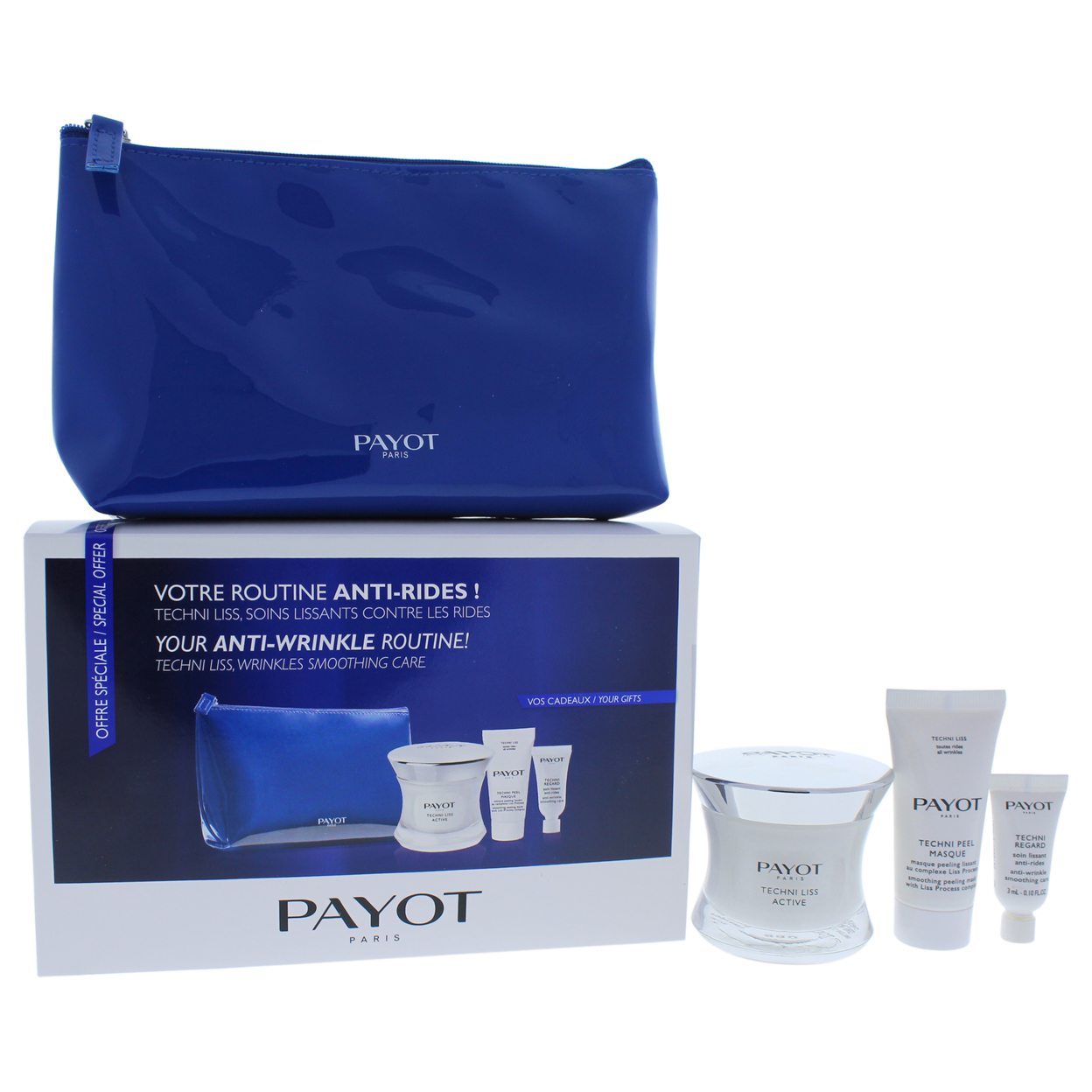 Techni Liss Anti-Wrinkle Set by Payot for Unisex - 4 Pc Set 1.6oz Techni Liss Active, 0.10oz Techni Regard, 0.50oz Techni Pee... payot techni liss