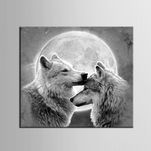 1 panel Animal series wolf wall art canvas paintings with stretched ready to hang canvas print for kids gift decoration/ZT-3-1 wall art wolf howl print canvas paintings