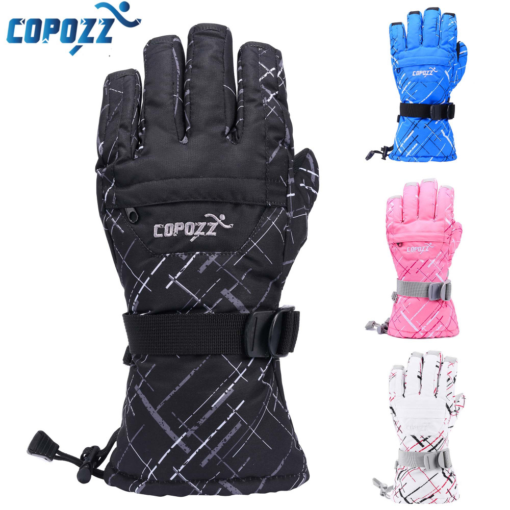 Brand Men Skiing Gloves TPU Bag Waterproof Motorcycle Winter Snowmobile Snowboard Ski Gloves Warm Ride Thick Gloves