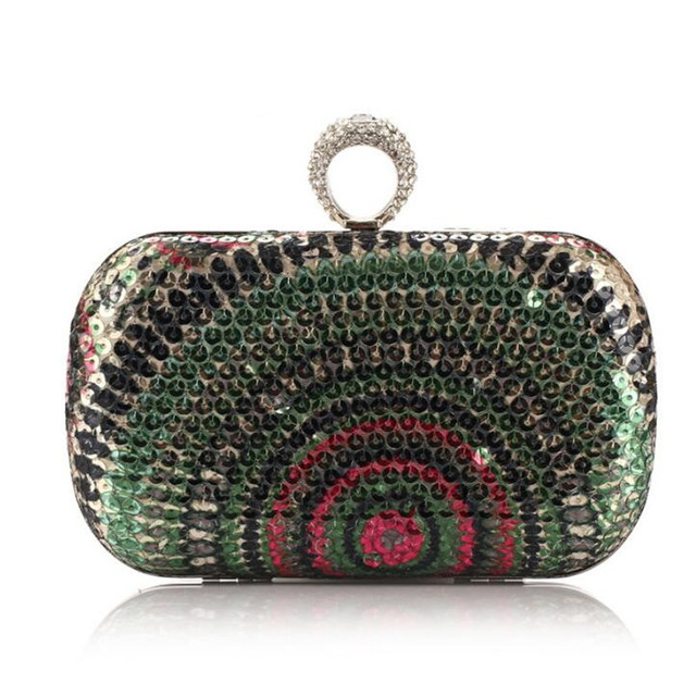 2015 New Women Clutch Knuckle Rings Evening Bag Ladies Party Wedding Bride Fashion Wallet Day Clutch Makeup Bags  B021