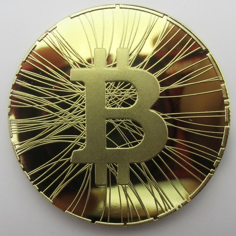 Bitcoin EERSTE BITCOIN ATM Okcoin Gouden medaille Kopie Munt Souvenir Metalen hobbymunten