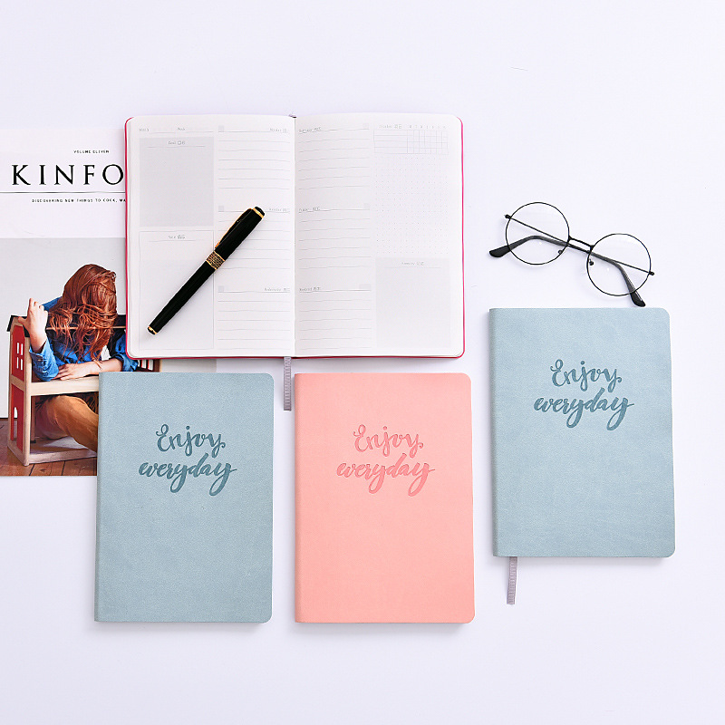 New Soft Cute Notebook Stationary Personal Daily Notebooks and Journals Simple Daily Weekly Planner Agenda 2018 Defter HJW063 girly notebook stationery suit clips pens daily plan agenda sticky notes great value planner organizer set cute journals series