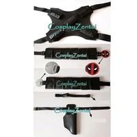 NEW Deadpool Accessories Black 3 Pieces Deadpool Cosplay Sets Belt Sword Holder Gun Hoder