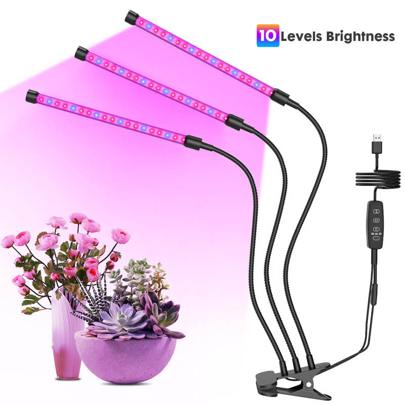 20W/30W USB Plant Growth Lamp With Automatic Opening Function 3/6 / 12H Timer 10 Level Brightness Lamp Kk