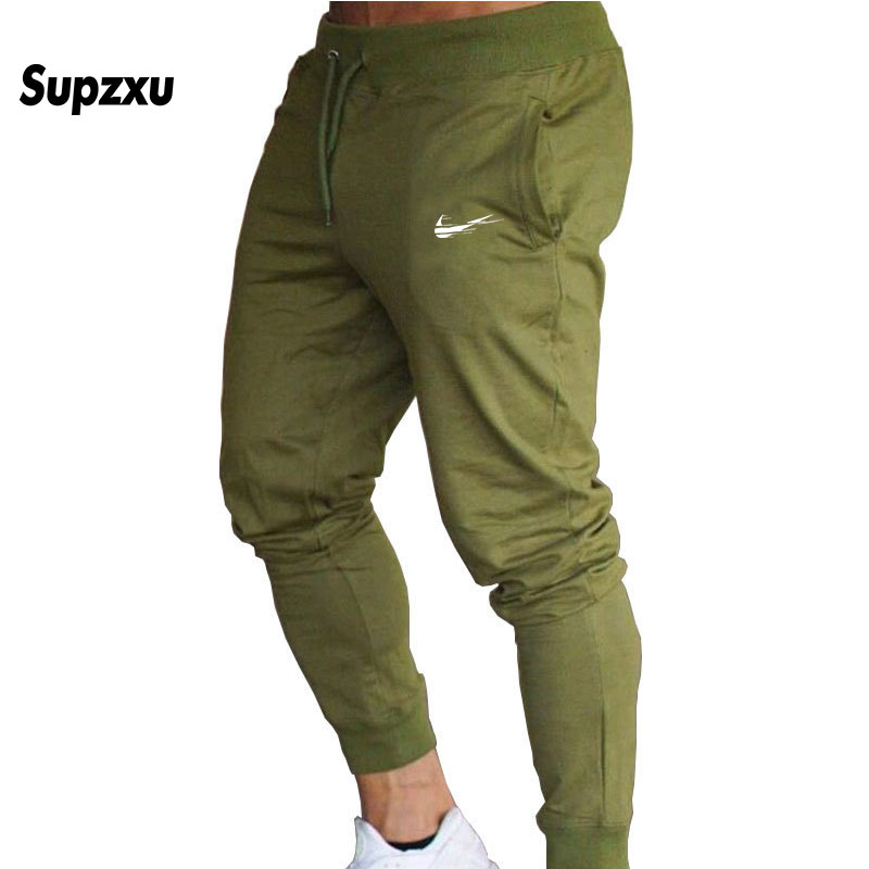 2018 New Men Joggers Brand Male Trousers Casual Pants Sweatpants Men Gym Muscle Cotton Fitness Workout hip hop Elastic Pants