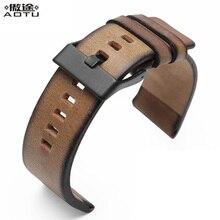Genuine Leather Watchbands For Diesel DZ4343 Retro Men Watch