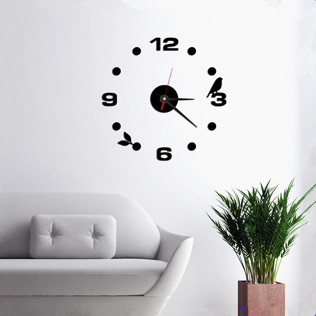 new 3d wall clock acrylic simple clock modern design diy roman