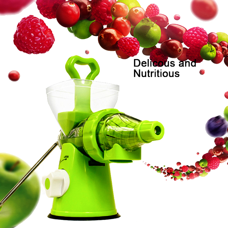 LUCOG Multifuctional Kitchen Household Crank Single Auger Juicer With Suction Base Home Juicer For Wheatgrass Fruit Vegetable