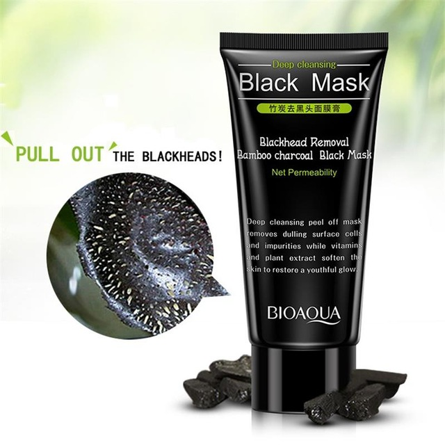2015 New Afy Deep Cleansing Purifying Peel Off Black Mud Facail Face Mask Remove Blackhead Facial Mask 60ml Free Shipping Комедон