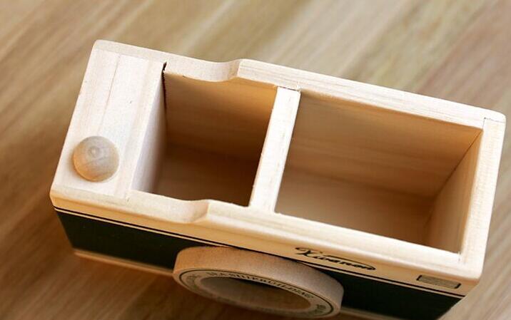 Organisateur de bureau en table de chevet personnalisé en bois