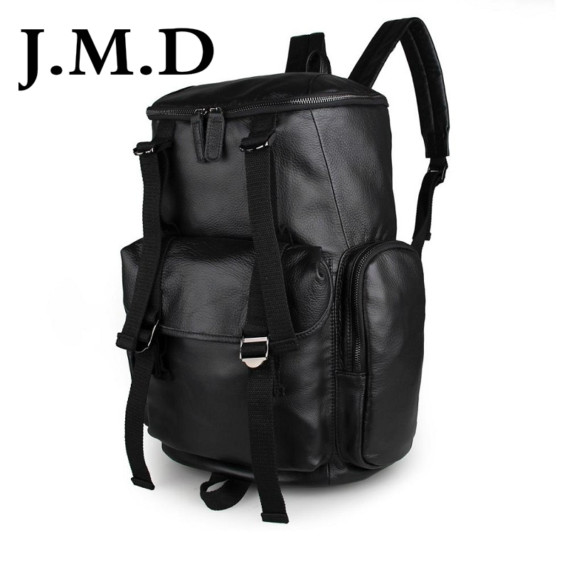 J.M.D 2017 New Arrival 100% Classic Leather Travel Bags Cowboy Genuine Leather Men's Trendy Backpacks Shoulder Bag 7318 247 classic leather