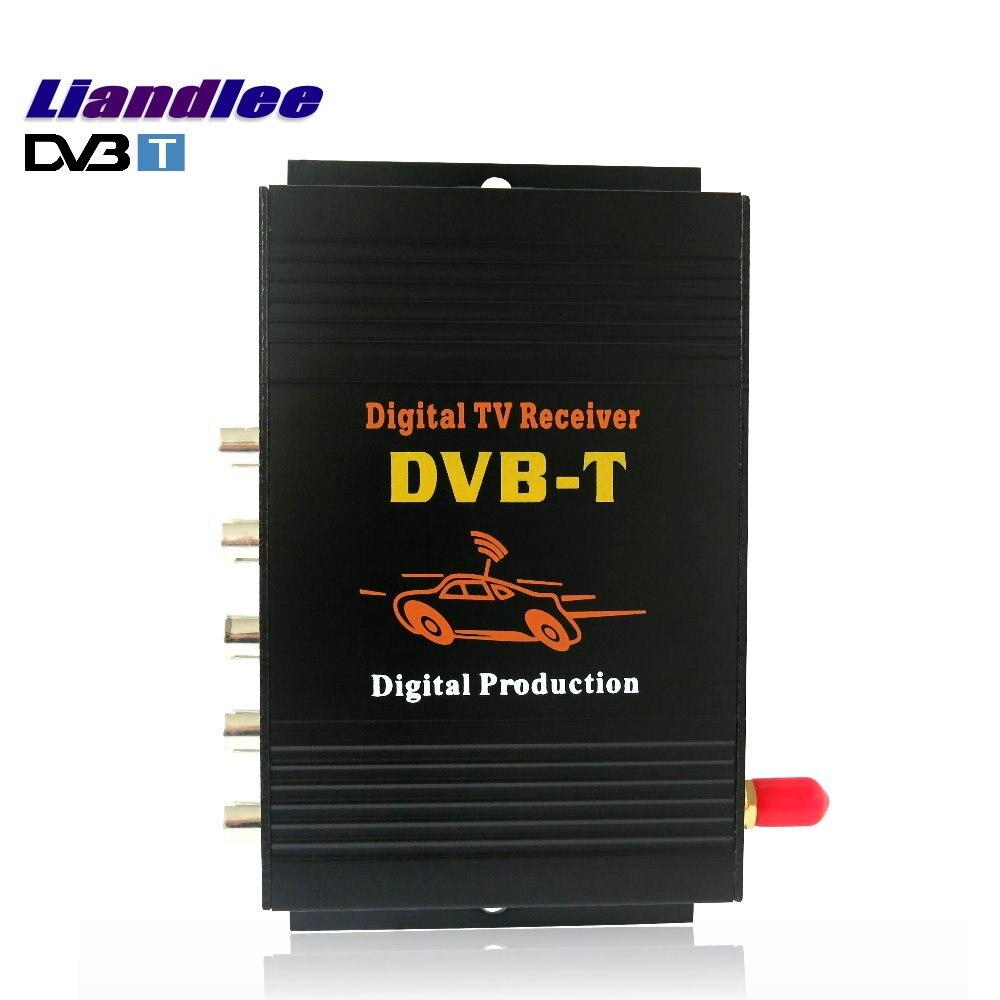 Liandlee voiture numérique TV DVB-T récepteur MPEG-4 CVBS D-TV Mobile HD TV Turner convertisseur boîte 1 Signal antenne/modèle DVB-T-M-588X