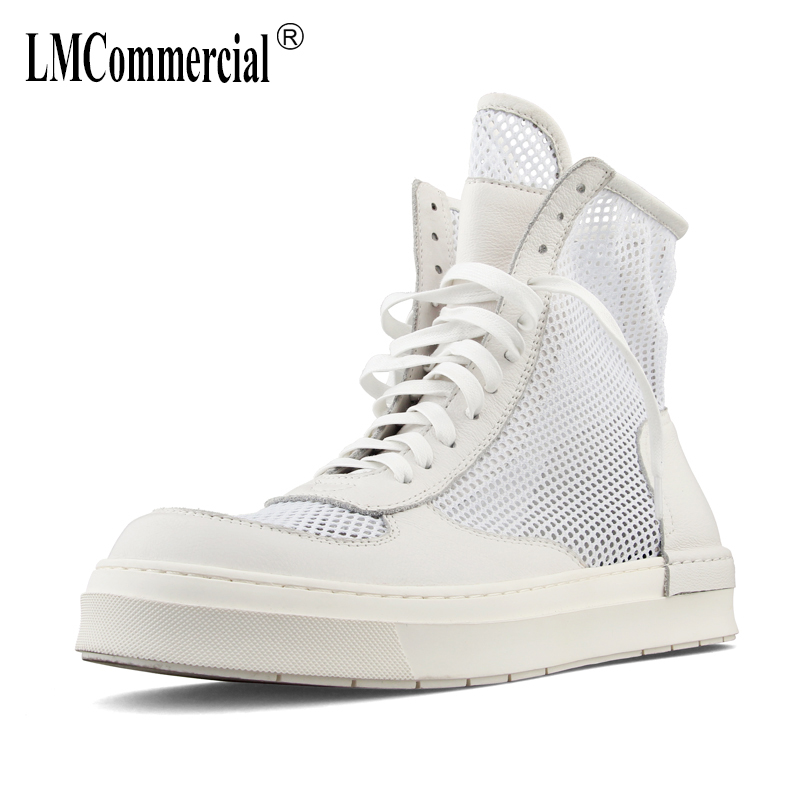 high-top shoes men's summer sandals British retro men shoes all-match cowhide breathable sneaker fashion boots male Leisure spring autumn summer sandals british retro men s shoes all match cowhide breathable sneaker fashion boots men casual shoess male