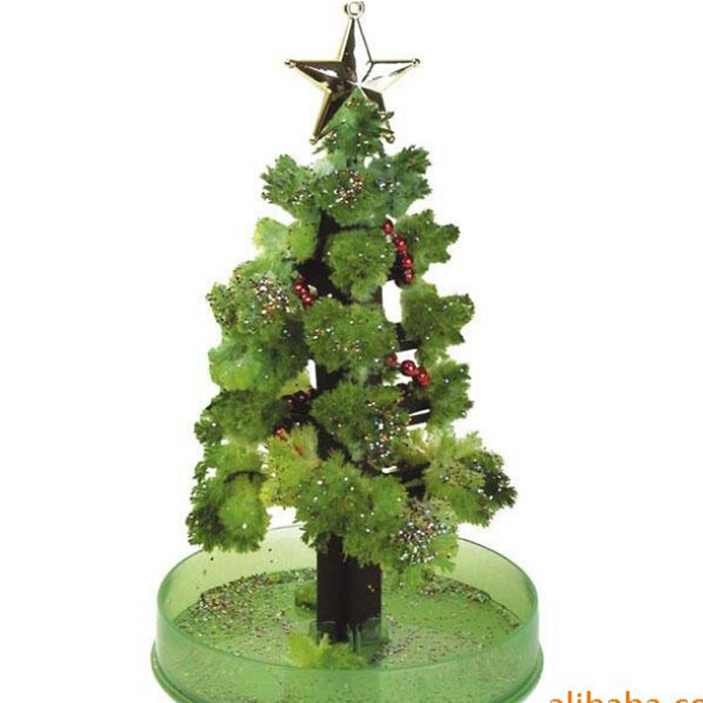 2019 110mm H DIY Green Visual Magically Grow Paper Crystals Tree Magic Growing Christmas Trees Wunderbaum Kids Toys For Children