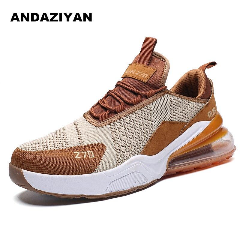 2019 nouvelles chaussures de coussin d'air chaussures décontractées pour hommes avec des étudiants sauvages volant tissé absorption des chocs porter des chaussures