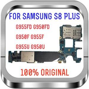 Image 1 - Suporte 4g lte 64gb original para samsung galaxy s8 g950f g950u g950fd g955f g955u g955fd placa mãe europa versão placa lógica